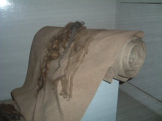 Cloth made of human hair.